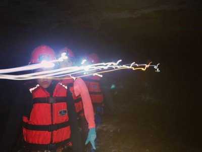 Caving + camping in the cave