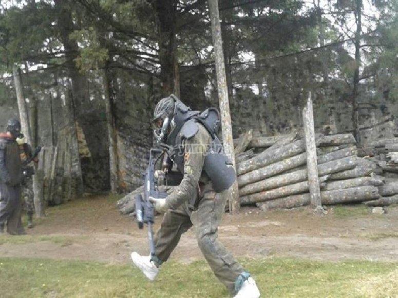 Paintball battlefield