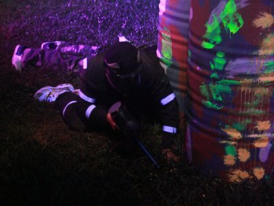Paintball Match at Night in Santa Fe