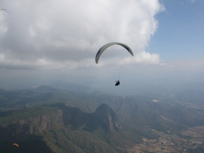 Paragliding flight in Valle + quad route
