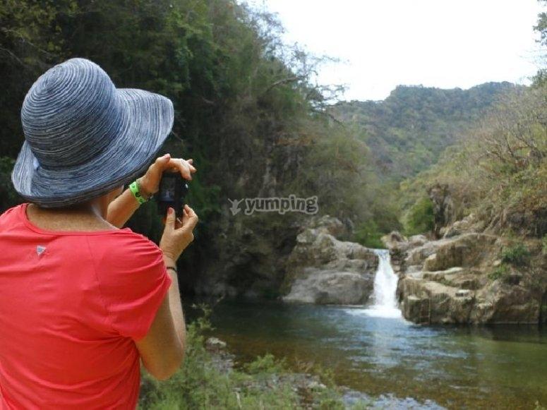 Foto a la cascada