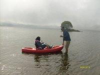 Kayaking in the dam of Santa Ana