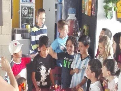 Cumpleaños con golfito comida y pastel, Puebla 4h