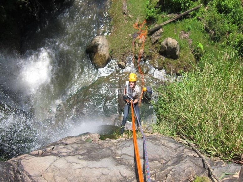the adventure of rappelling.