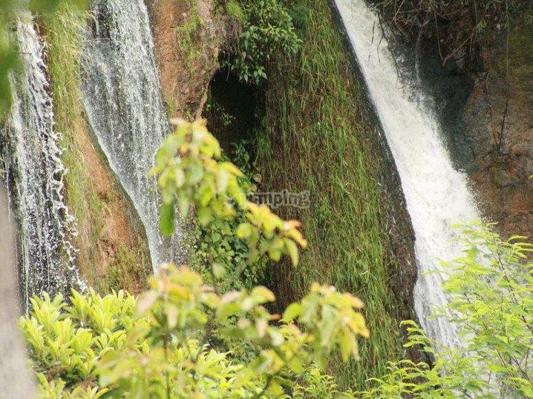 the waterfalls
