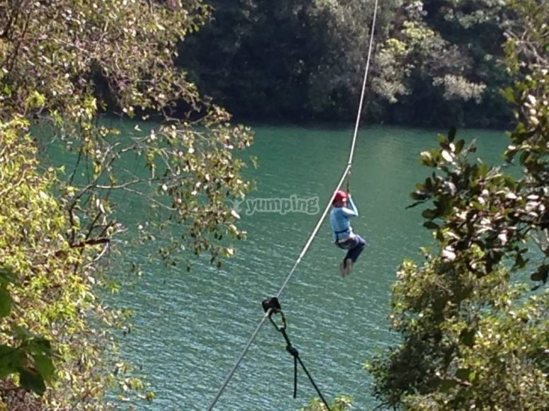 Zip lines in the camping