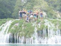 Jumping waterfalls