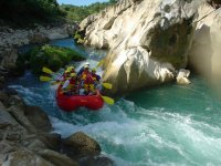 recorrido de rafting