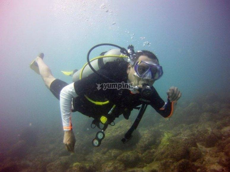 Mágica experiencia bajo el agua