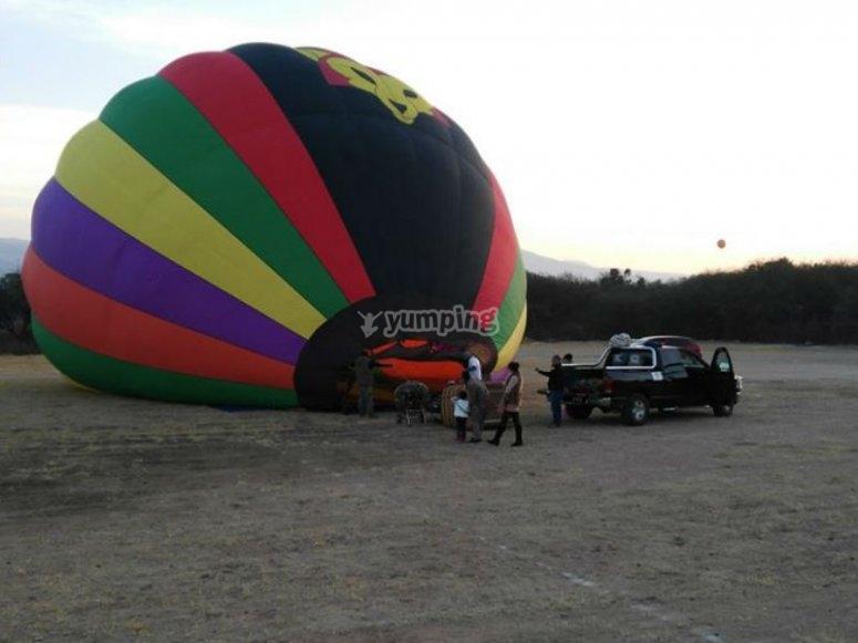Vuelo en globo en Guanajuato para dos