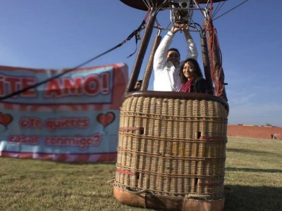 Private balloon flight for 2 in Guanajuato