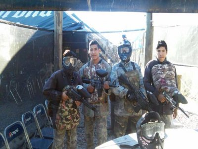 Paintball match in Guadalajara