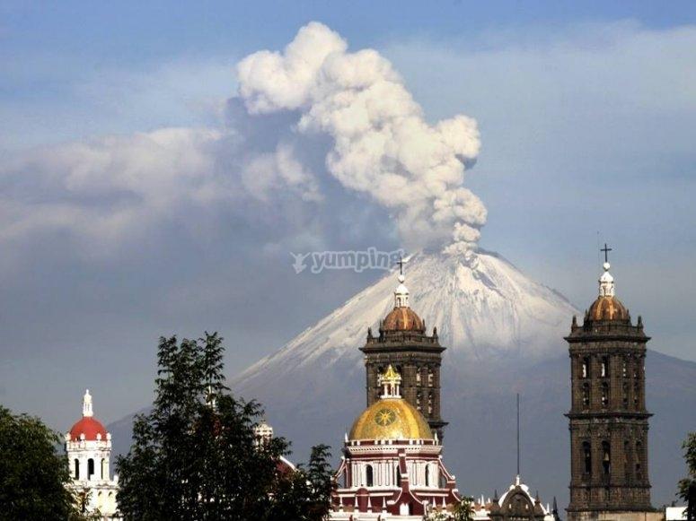 Volcan en Puebla