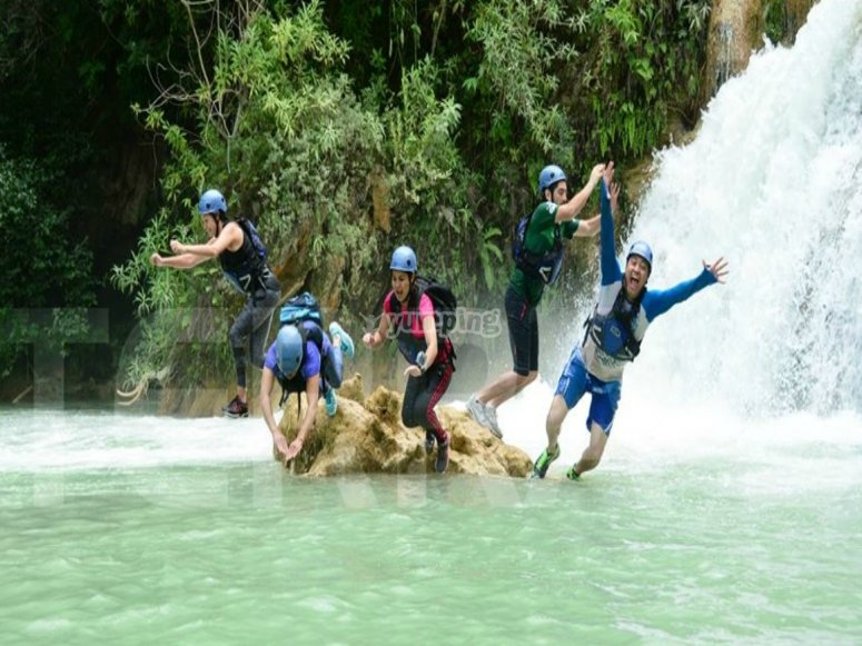 After the rafting activity