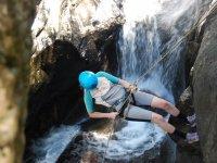 Rappelling the ravine
