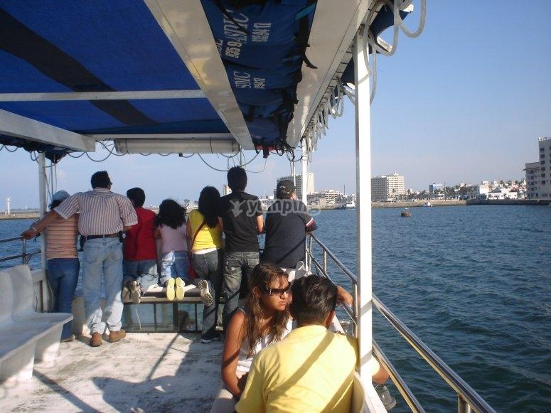 en la embarcacion.