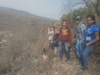 Hiking route in Barranca de la Cazuela