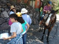 Donkey ride in Las Pulgas