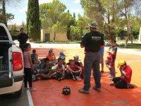 explaining to the children