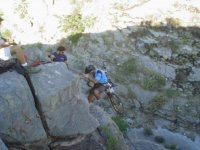 rappel with the bike