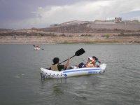 paddling in lake