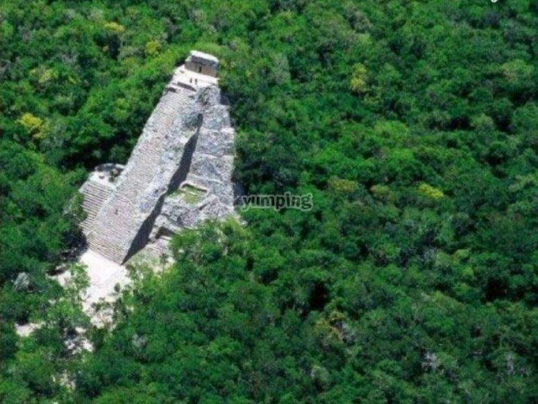 Foto aérea de Coba