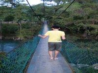 Hike on a suspension bridge