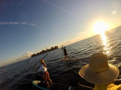 Paddle Surf Route through Sacrificios Island