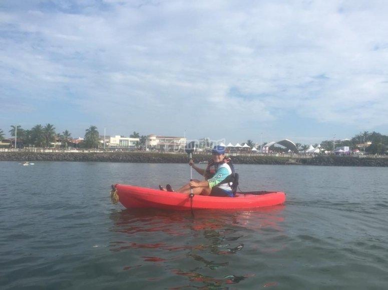 rema en nuestros kayaks