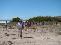 Caminando en la Isla Espiritu Santo