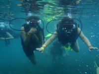 Diving with friends in SLP