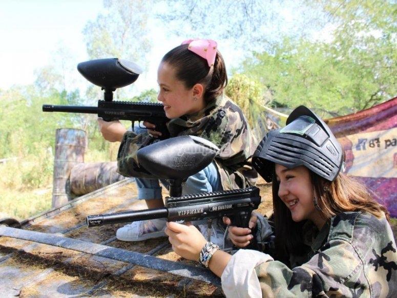 Girls playing gotcha