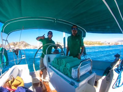 Sailing at sunset in Los Cabos for kids