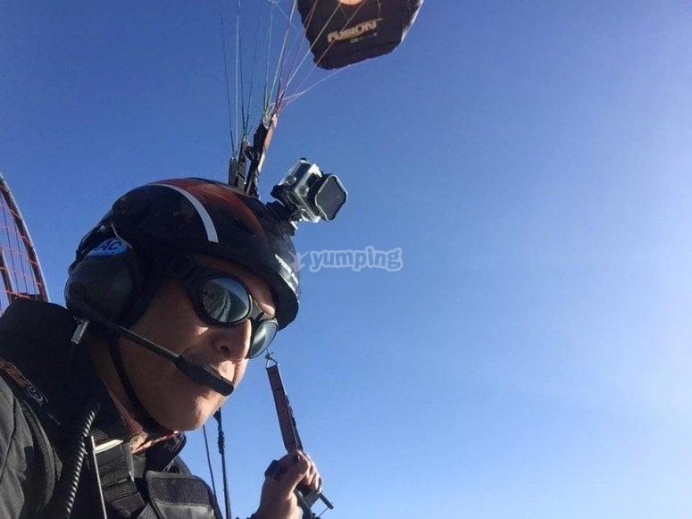 Paramotor flight in Yucatán