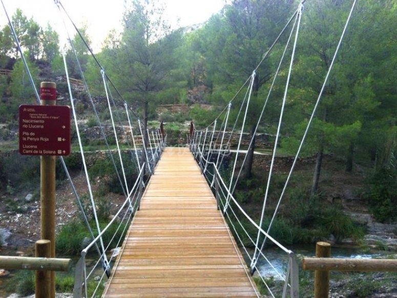 suspension bridge in Zacatlan