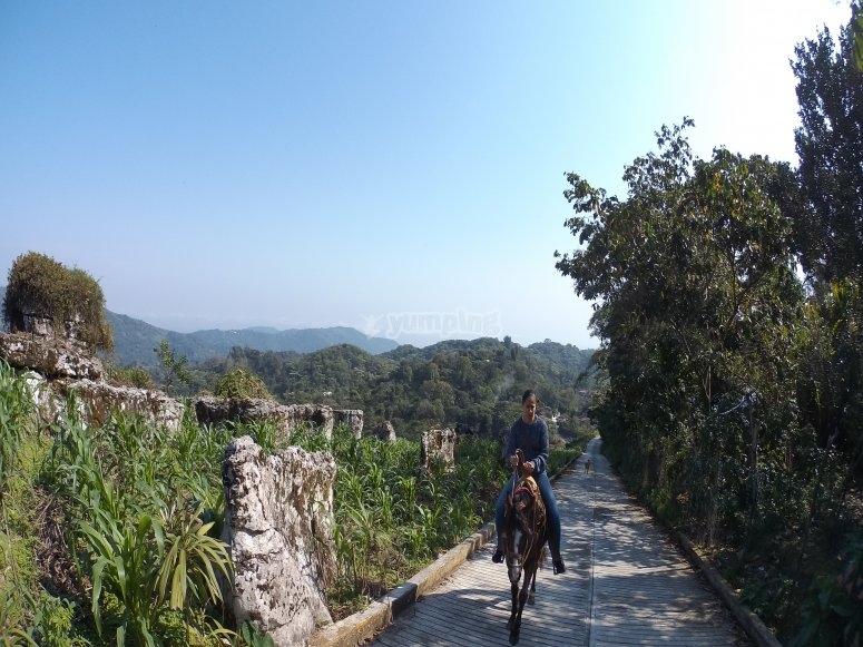 caminos en Cuetzalan