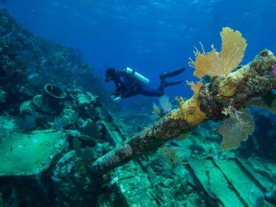 2 tank wreck dive in Cancun