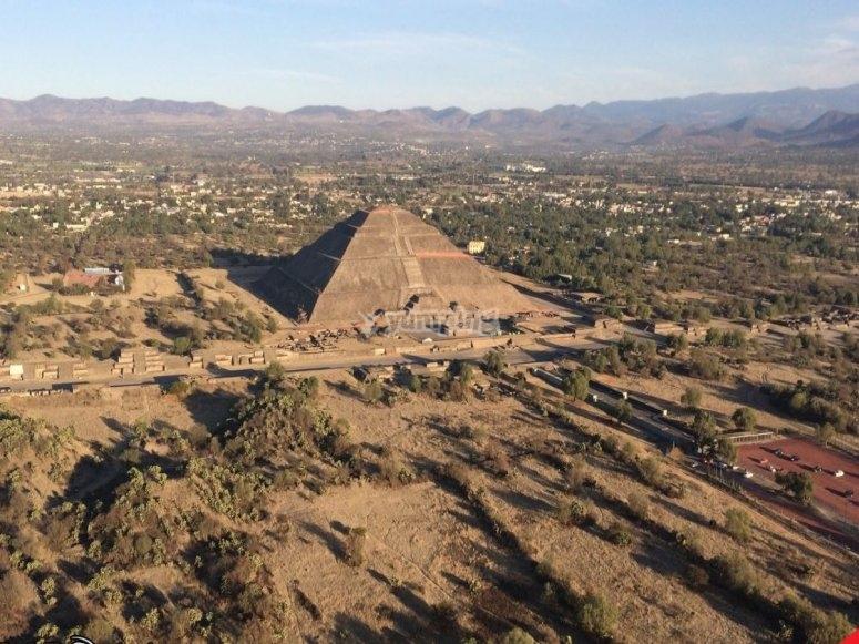 Views of the pyramids