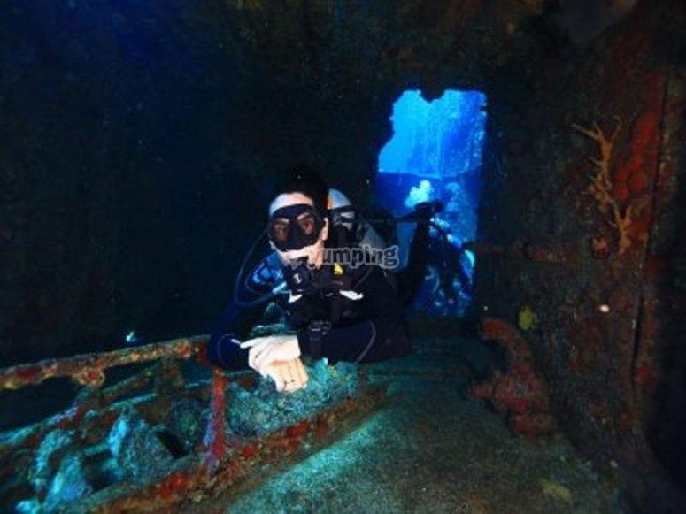 buceo por barcos submarinos