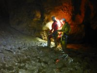 Expedition in caves