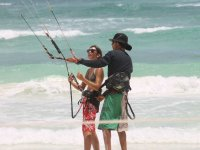 Learning kitesurfing with the best