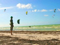 Kitesurfing in the Mexican Caribbean