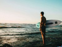 Surfing in the Mexican Caribbean