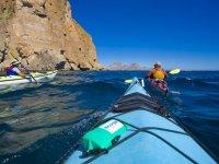 Kayaks en el Mar de cortes