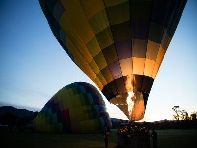 Hot ir balloon flight in Teotihuacán 45 min
