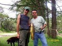 Pescando en el rio