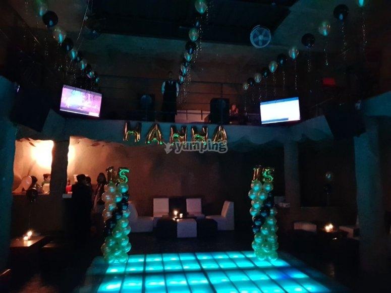 Luminous dance floor