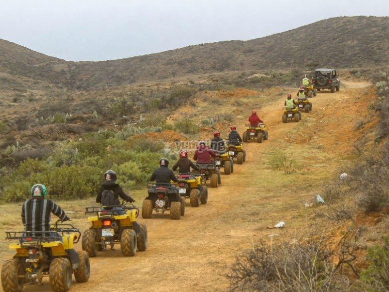 ATVs on the dirt road