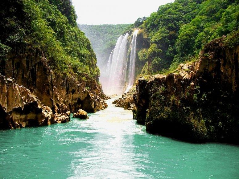 Espectacular cascada Tamul