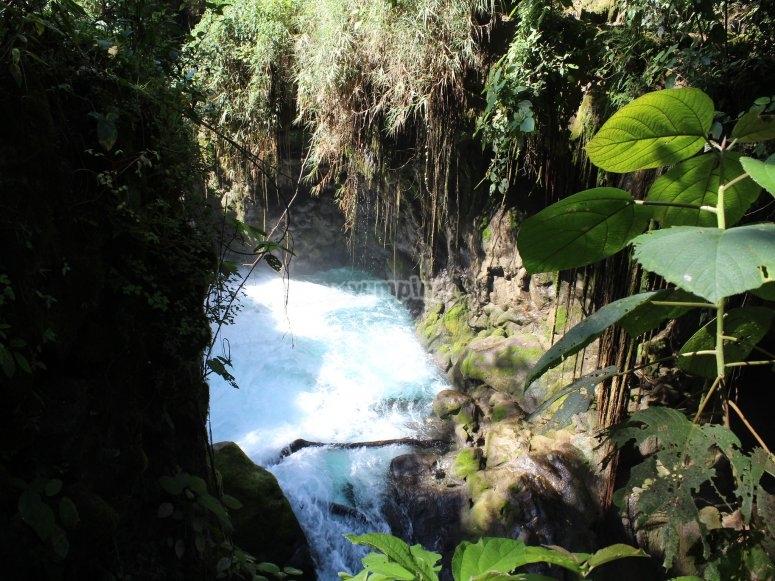 Llegando a las cascadas